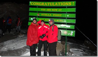 Summit Day: Made it to the first peak at 5am! 18,815 ft!